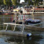 Feu artifice sur eau, ponton aluminium, Arts et feux